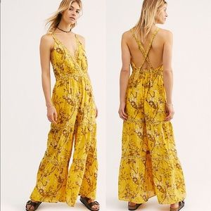 NWT Free People Caicos Jumpsuit In Sundrop M